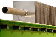 Stamped Fin Heat Exchangers for an Industrial Processing Application